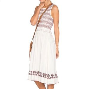 Tularosa tamarack embroidered smocked dress XS